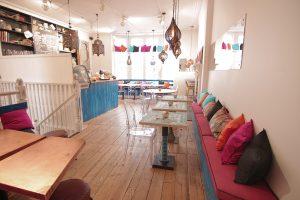 Inside the Cafe Uneeka, Truro
