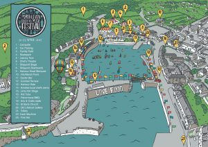 Map of the Porthleven Food Festival
