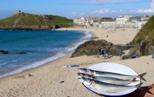 Fresh Fish at Woodfired West on Porthmeor Beach
